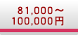 81000円〜100000円