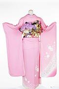 1227 ピンク系 サーモンピンク小花柄背面写真