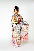 1368 紫系 赤紫ピンク花総柄 サムネイル