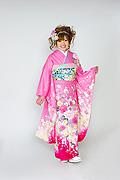 1573 ピンク系 裾赤リボン、桜、牡丹柄 tt-b118 サムネイル