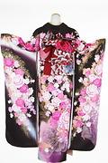 1708 茶系 こげ茶大小の薔薇と蝶 tt-b桂由美背面写真