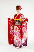 1865 赤系 裾紫、ラメ入り真赤花の饗宴 tt-bジャストユー前面写真