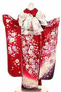 1865 赤系 裾紫、ラメ入り真赤花の饗宴 tt-bジャストユー背面写真