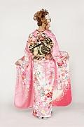 1774 ピンク系 甘いピンク地に可憐な和花 tt-fs603背面写真