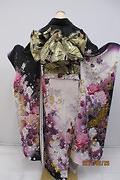 1805 紫系 ラメ入り白紫染め分けアゲハ bijou 背面写真