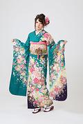 1876 緑系 まり、桜、宝づくし古典柄 サムネイル