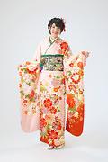 1907 ピンク系 桜、菊、雪輪柄 サムネイル