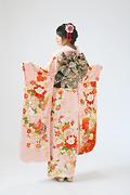 1893 ピンク系 桜、菊、雪輪柄背面写真