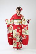 2011 赤系 市松に矢羽と麻の葉 サムネイル
