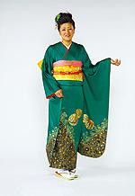 401 緑系 グリーン毬柄 サムネイル